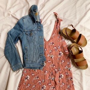 Tilly's Ivy and Main Peach Floral Slip Dress